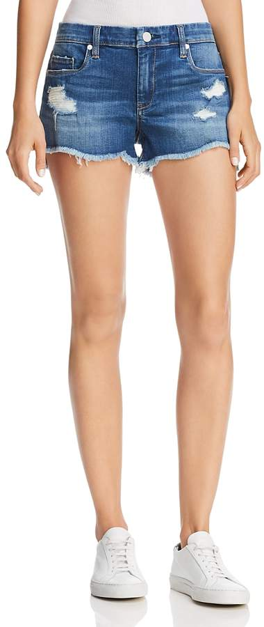Blanknyc Distressed Denim Shorts in Push Play