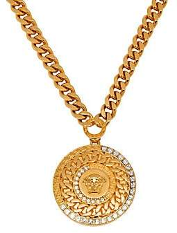 Versace Men's Medusa Head Strass Necklace