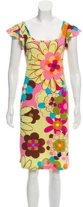 Dolce & Gabbana Printed Knee-Length Dress