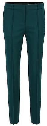 HUGO BOSS Pleat-front trousers in stretch virgin wool