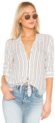 1 STATE Buttondown Tie Front Blouse