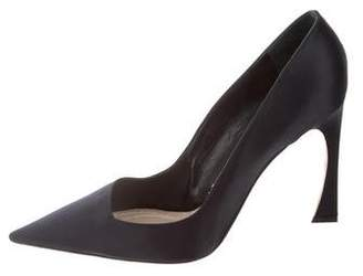 Christian Dior Satin Pointed-Toe Pumps
