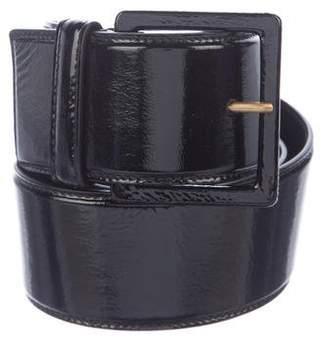 Saint Laurent Patent Leather Hip Belt