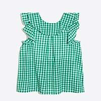 J.Crew Factory Girls' ruffle tank top in gingham