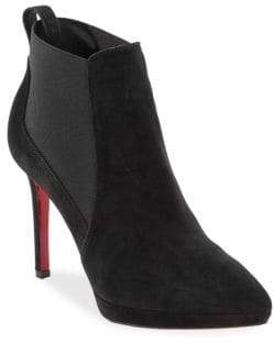 Christian Louboutin Crochinetta 100 Suede Booties