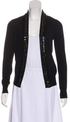 Saint Laurent Wool Embellished Cardigan