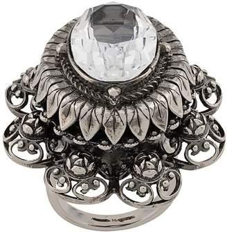 Alexander McQueen rose bejewelled ring