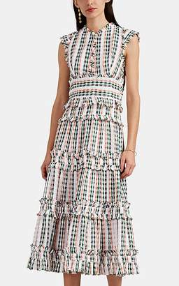 Proenza Schouler Women's Tiered Tweed Dress - White