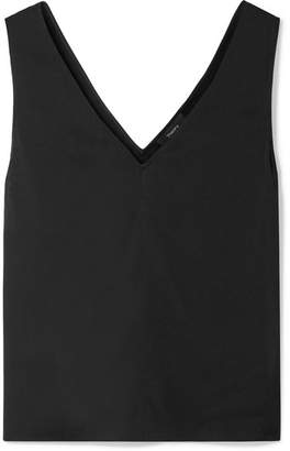 Theory Stretch-silk Tank - Black