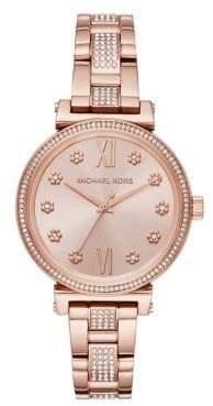 Michael Kors Mini Sofie Rose Goldtone Stainless Steel Bracelet Watch