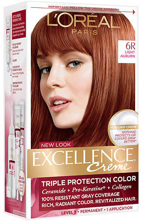 l oreal excellence protection permanent hair color creme medium 8 sold out l oreal excellence protection permanent hair color creme light auburn 6r sold out