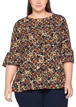 Zizzi Women's 3/4 SL Blouse,(Manufacturer Size: Large)