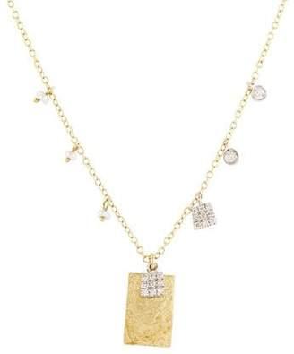 Meira T 14K Pearl & Diamond Necklace
