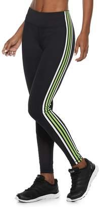 Fila Sport Women's SPORT Striped Mesh Mid-Rise Leggings