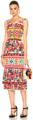 Dolce & Gabbana Charmeuse Printed Dress $2,595 thestylecure.com