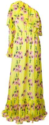 MSGM one-shoulder floral maxi dress