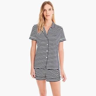J.Crew Dreamy short-sleeve cotton pajama set in stripe