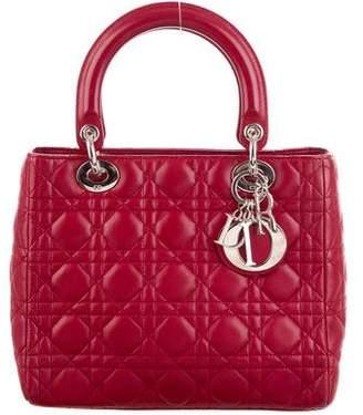 Christian Dior Lady Medium Bag w/Strap