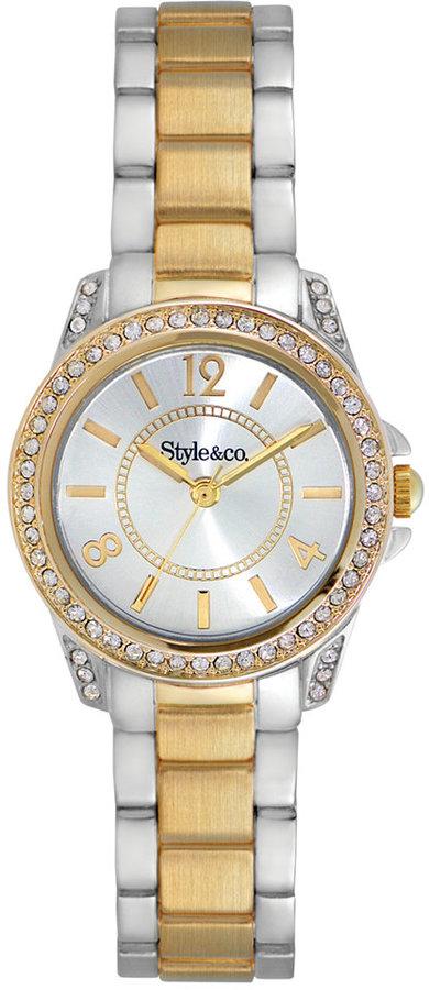 Style&Co. Watch, Women's Two-Tone Bracelet 28mm SY031SG