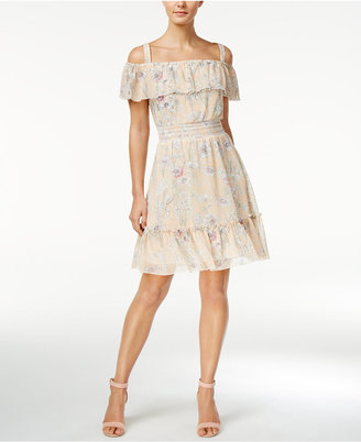Tommy Hilfiger Floral-Print Cold-Shoulder Dress $124 thestylecure.com