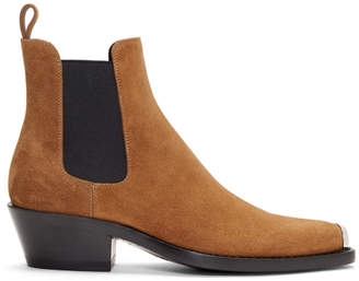 Calvin Klein Tan Western Chris Crosta Chelsea Boots