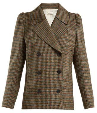 Masscob Double Breasted Wool Blazer - Womens - Brown Multi