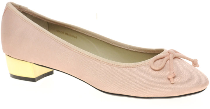 ASOS LAGOON Ballet Flats With Low Metal Heel