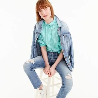 J.Crew Petite slim perfect shirt in striped Irish linen