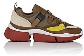 Chloé Women's Crisscross-Strap Sneakers - Olive
