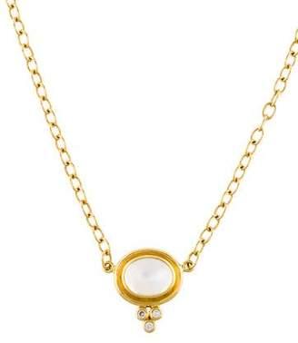 Temple St. Clair 18K Moonstone & Diamond Necklace