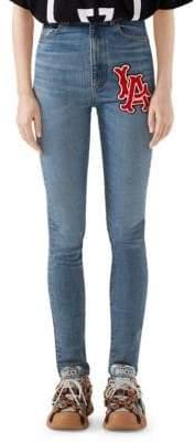 Gucci LA Angels Skinny Stretch Denim Jeans