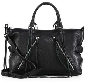 Rebecca Minkoff Moto Leather Satchel $335 thestylecure.com