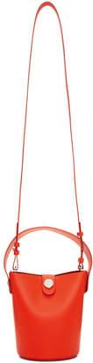 Sophie Hulme Orange Nano Swing Bucket Bag