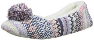 totes Women's Ladies Fairisle Ballet Slippers Low-Top (Lilac/Pink Ltpk), S 36/37 EU