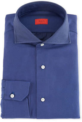 Isaia Men's Oxford Dress Shirt