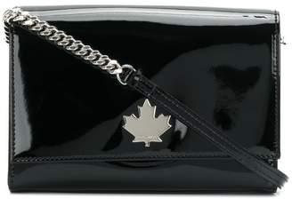 DSQUARED2 varnished logo crossbody bag