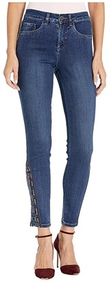 FDJ French Dressing Jeans Olivia Slim Ankle with Stained Glass Ankle Embroidery in Midnight
