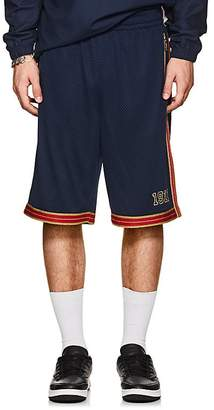 Fila Men's Metallic-Striped Logo Mesh Shorts