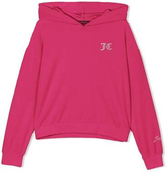 Juicy Couture Swarovski Personalisable Velour Hooded Pullover