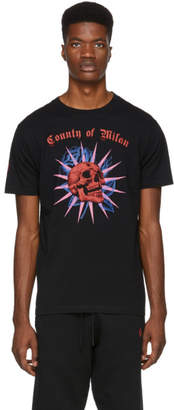 Marcelo Burlon County of Milan Black Skull T-Shirt