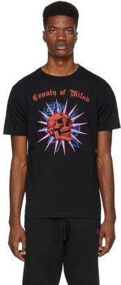 Marcelo Burlon County of Milan Black Skull T-Shirt