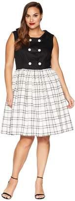 Unique Vintage Plus Size Ithaca Flare Dress Women's Dress