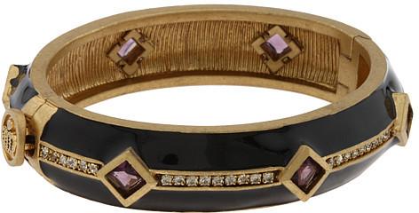 Juicy Couture Black/Purple Stone Bangle