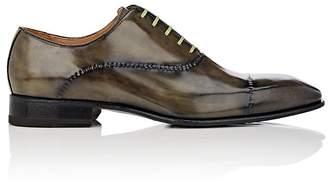 Harris Men's Stitch-Detail Leather Wholecut Balmorals