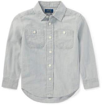 Ralph Lauren Chambray Cotton Sport Shirt
