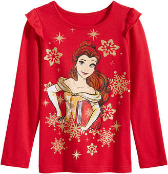 Disney Little Girls Belle Snowflake T-Shirt