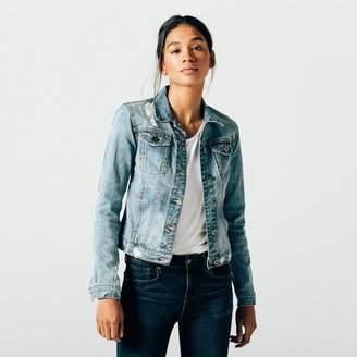 DSTLD Womens Denim Jacket in Light Vintage