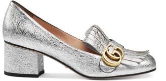 Gucci Leather mid-heel pump