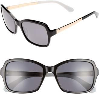 Kate Spade Annjanette 55mm Polarized Sunglasses