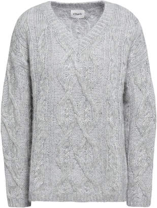 Charli Orla Cable-knit Alpaca-blend Sweater
